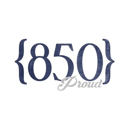 Tallahassee, Florida - 850 Area Code (Blue) Print Wall Art By Lantern Press - Party City In Tallahassee Florida