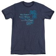 Fast Times at Ridgemont High All I Need Mens Adult Heather Ringer Shirt