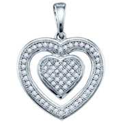 Gold and Diamonds PH2623-W 0.20CT-DIA HEART PENDANT- Size 7