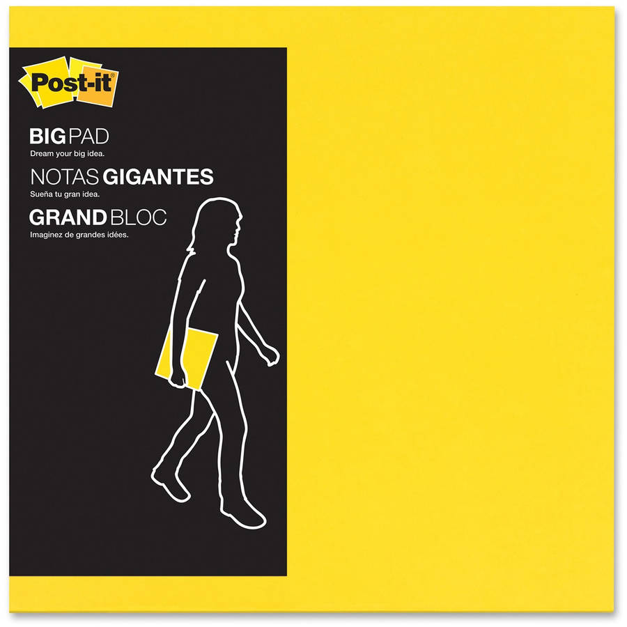 Post-it Big Pads, 1Pad/Pack, Multiple Sizes and Colors Available