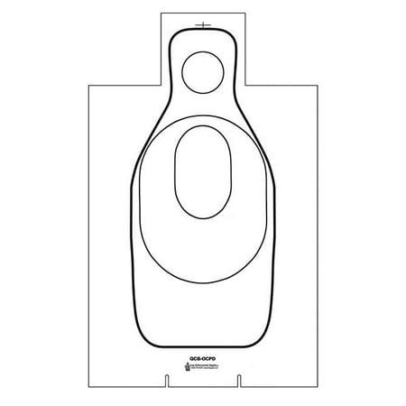 - 100 Pcs of Oklahoma City PD Training Cardboard Target Black on White CARDBOARD. Size: 19