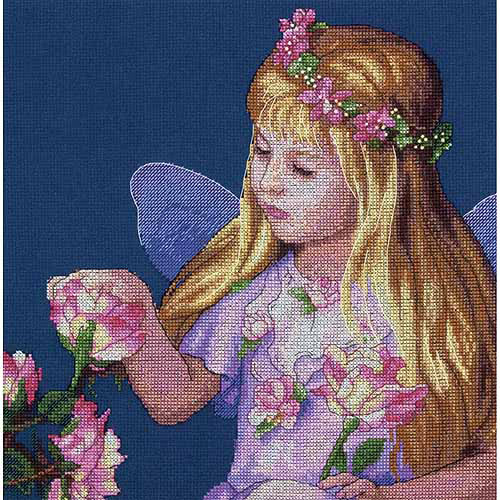 Dimensions Counted Cross-Stitch Kit, Rose Fairy