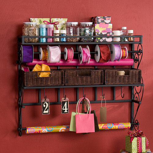 Wildon Home  Lynbar Wall Mount Craft Large Storage Rack with Baskets