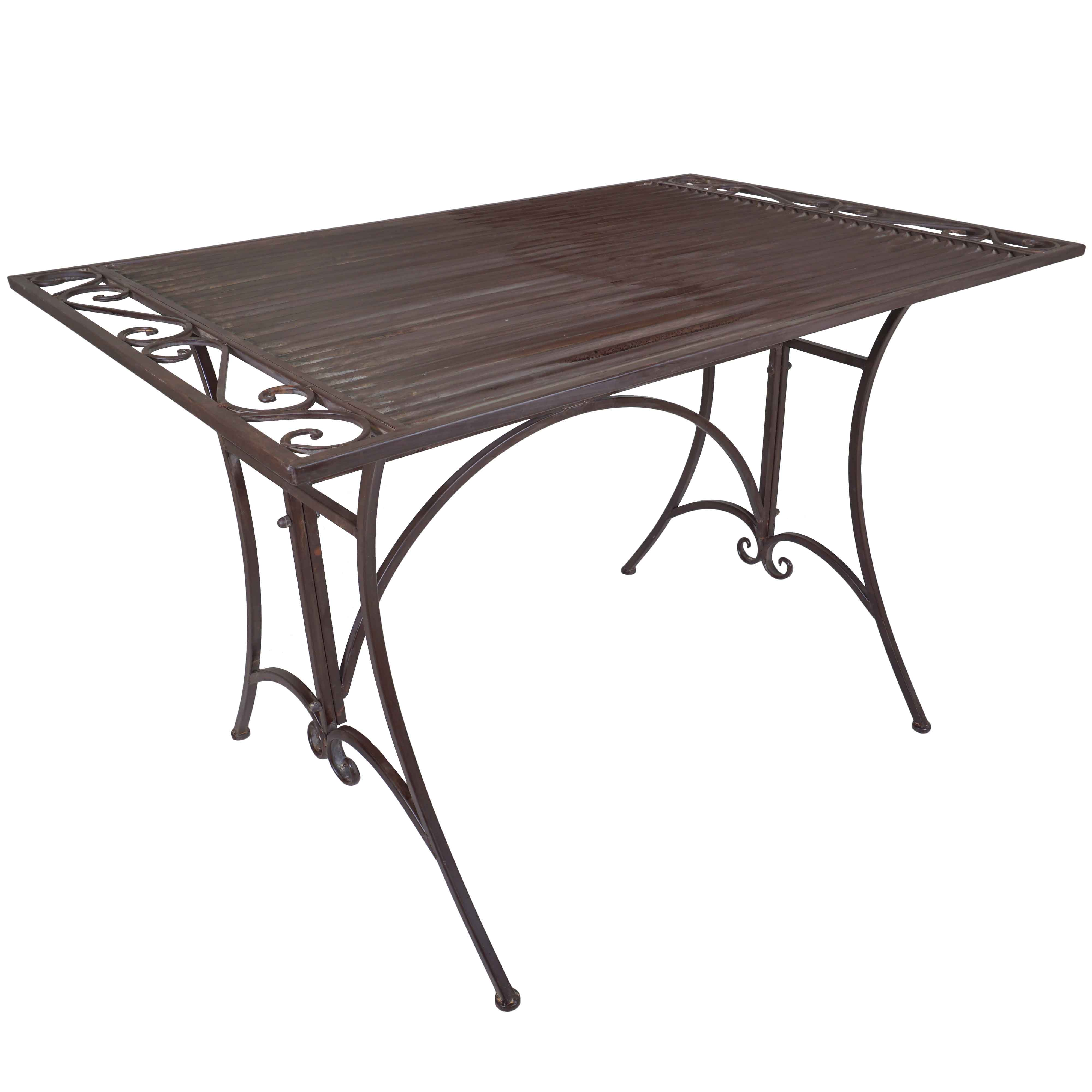 Titan Outdoor Antique Dining Table Porch Patio Garden Deck Rustic