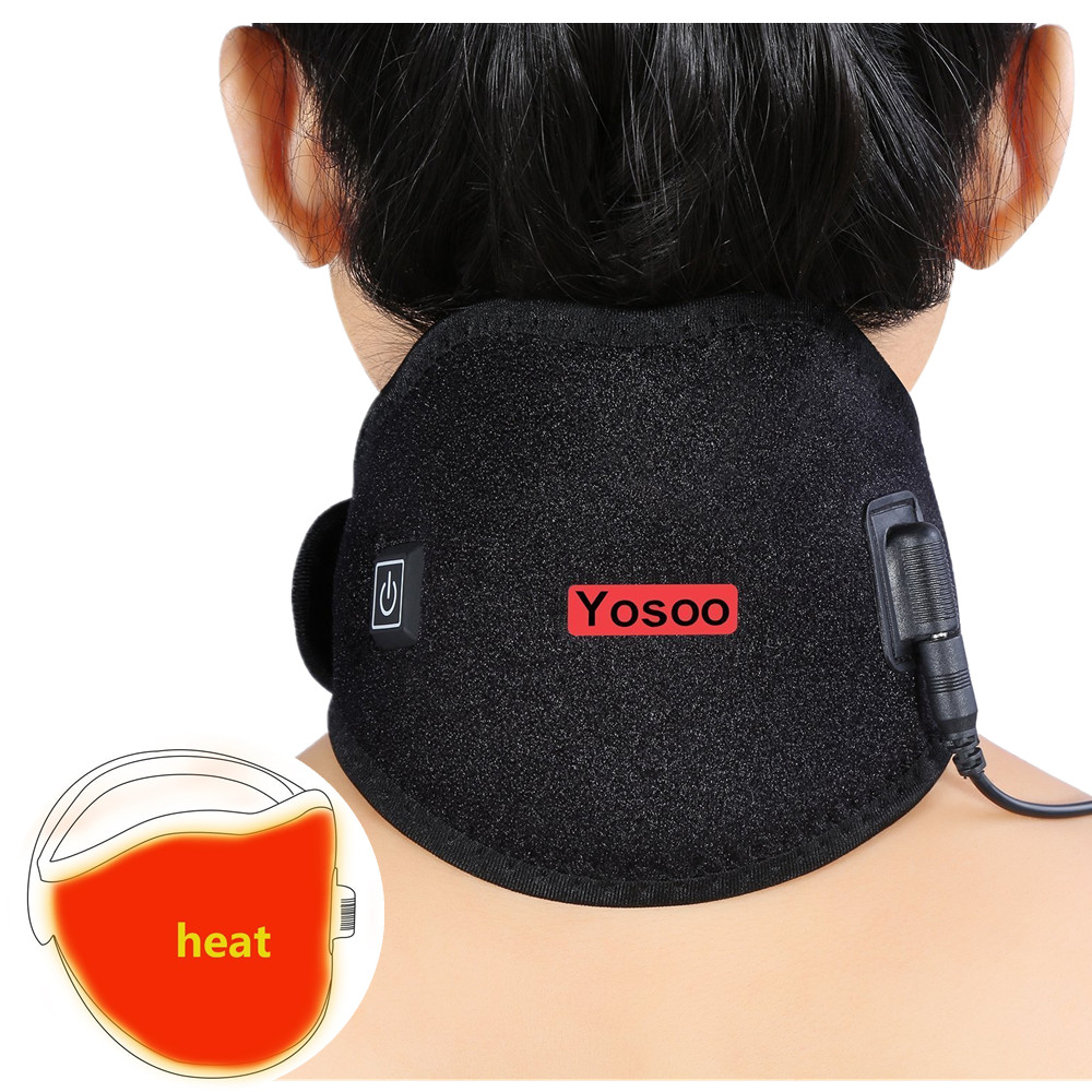 Yosoo USB Neck Wrap Heating Brace Pad Heated Pack Protector Strap with Cable