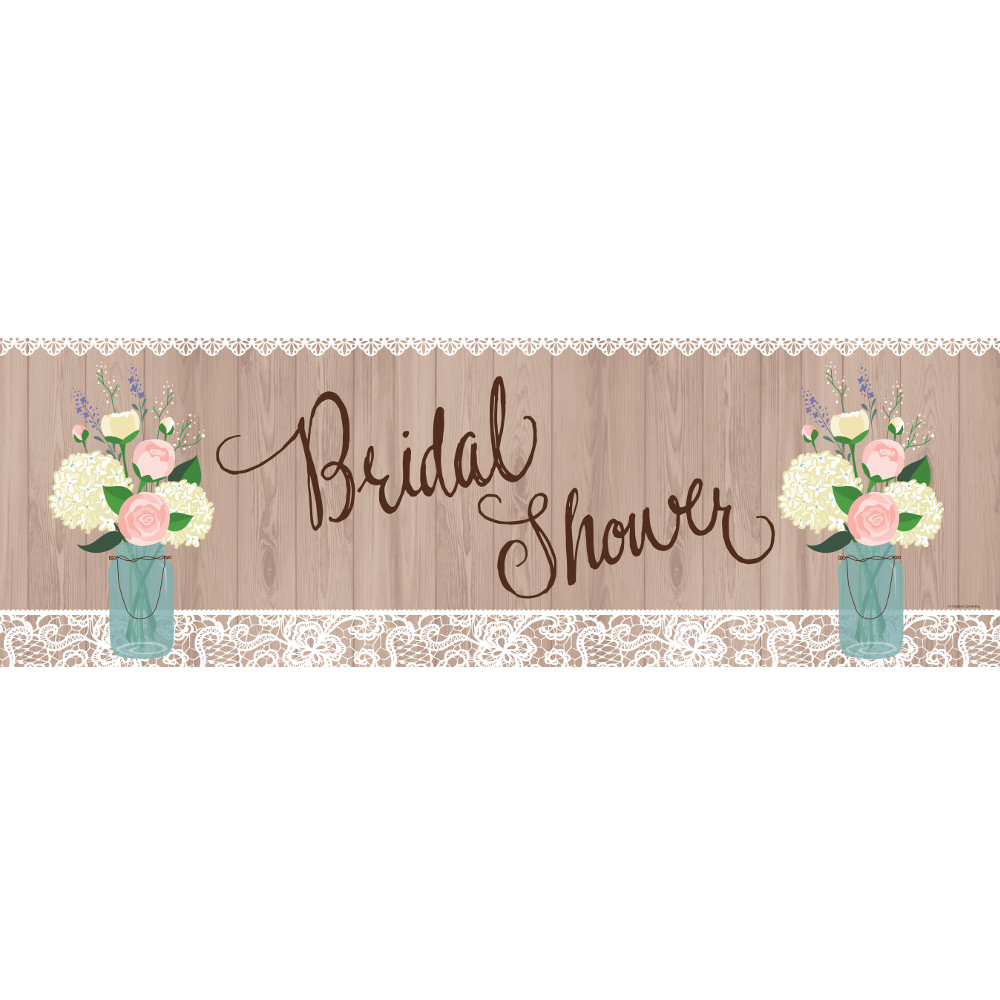 "Pack of 6 Decorative Rustic Wedding ""Bridal Shower"" Giant Party Banner 60"""