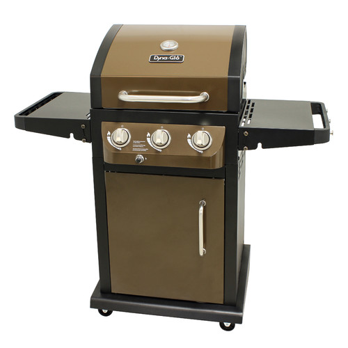 Dyna-Glo DGB390BNP-D Smart Space Living 3-Burner LP Gas Grill, Bronze by GHP Group