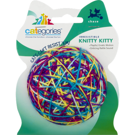 (2 Pack) Categories Knitty Kitty Ball Cat Toy by