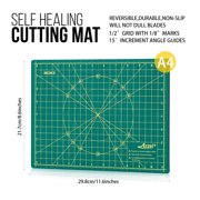 "Azzel Self Healing Rotary Cutting Mat Double Sided 9"" x 12"" (A4)"
