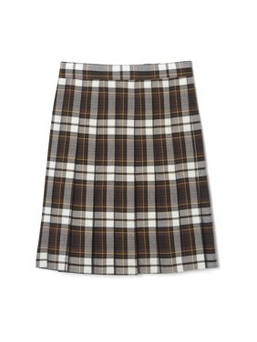 French Toast Girls Plus School Uniform Adjustable Waist Mid Length Plaid Pleated Skirt (Plus)