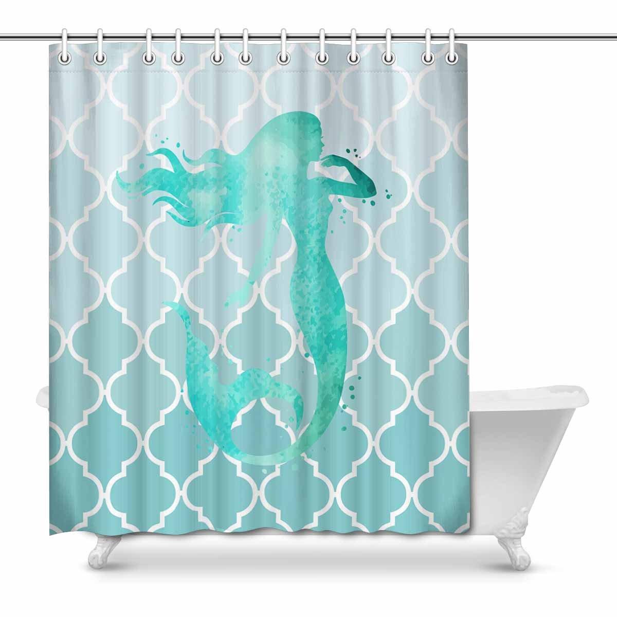 Bridges Pattern Shower Curtain Fabric Decor Set with Hooks 4 Sizes