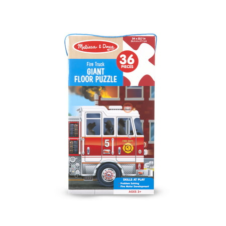 Melissa & Doug Fire Truck Giant Floor Puzzle, 36 Piece
