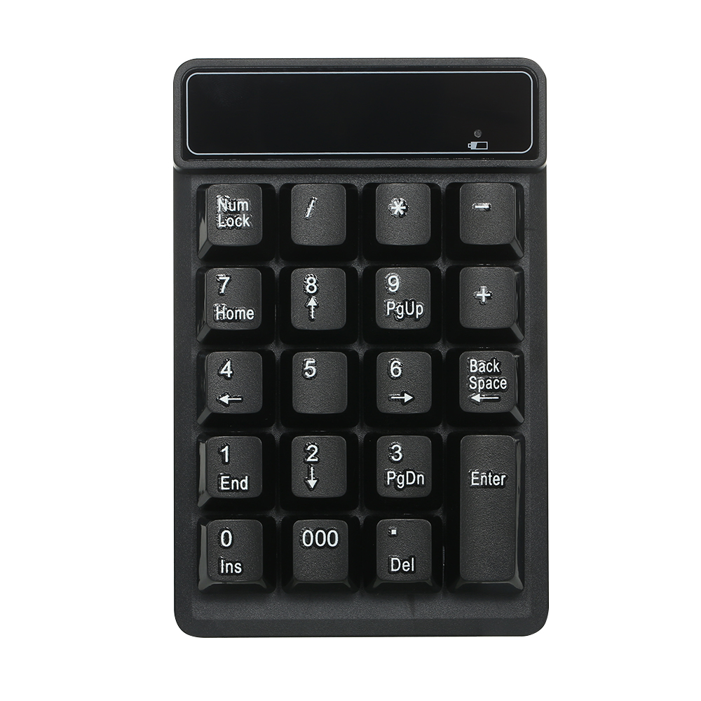 19 Keys 2.4G Wireless Low Noise Mini Numeric Keypad Waterproof ABS Material For Microsoft Android and iMac