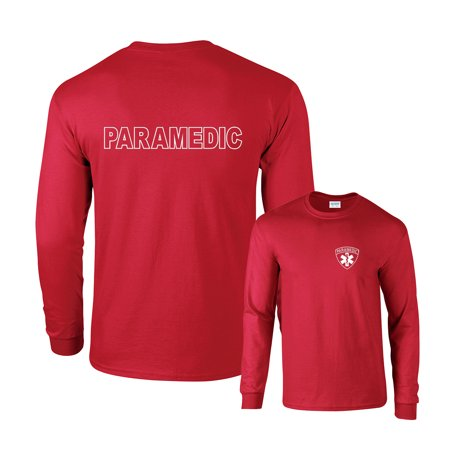 Paramedic White Logo F&B Long Sleeve - Lobos Long Sleeve