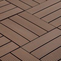 "BuildDirect Brown 12"" x 12"" Interlocking Deck Tile (10sq. ft. per box)"