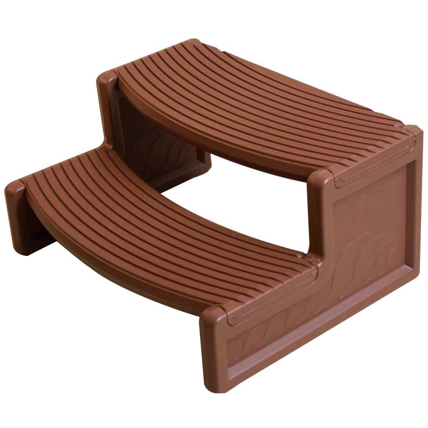 Confer Plastics HS2 Resin Multi Purpose Spa Hot Tub Handi-Step Steps, Mahogany by Confer