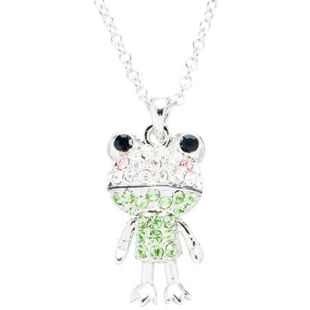 Gemstone Animal (Frog Gemmed Body Necklace )