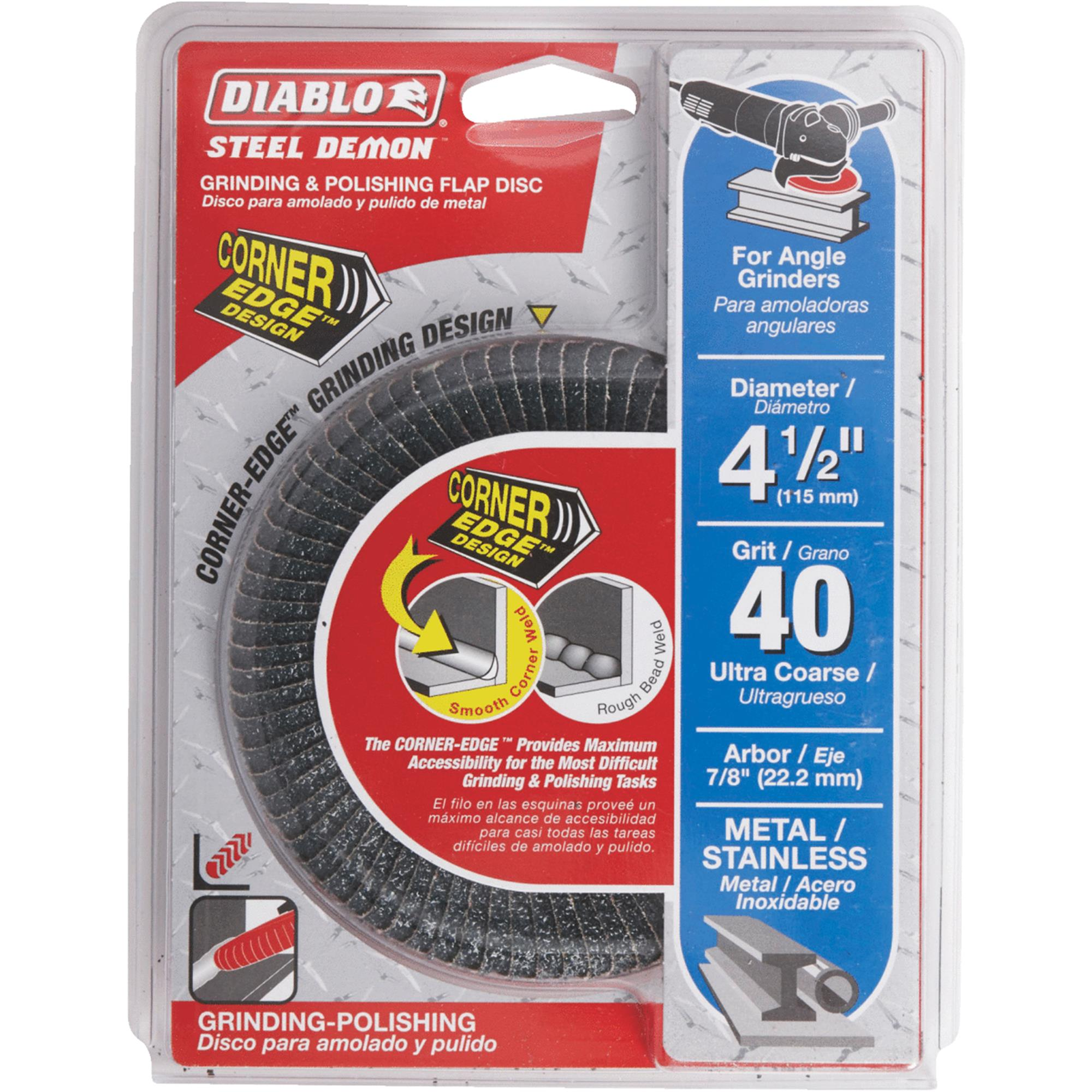 Diablo Type 29 Steel Demon Corner-Edge Angle Grinder Flap Disc