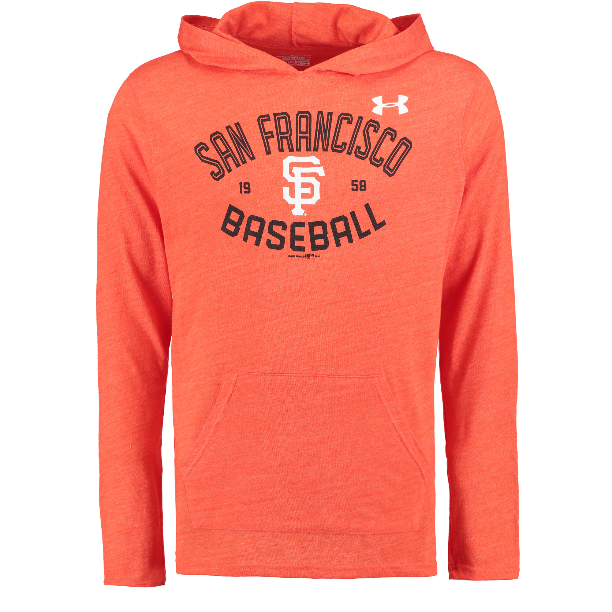 San Francisco Giants Under Armour Tri-Blend Pullover Performance Hoodie - Orange