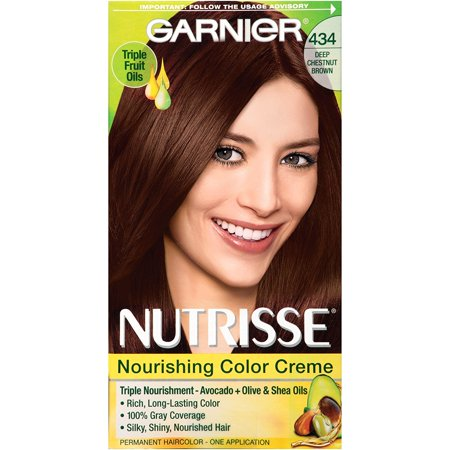 Nutrisse Nourishing Hair Color Creme 434 Deep Chestnut Brown Chocolate Packaging May Vary Permanent