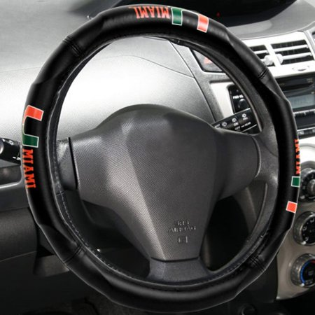 Miami Hurricanes Steering Wheel Cover- - No Size ()