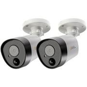 Q-See QTH8075B-2 QTH8075B-2 Add-on 5.0-Megapixel Analog HD PIR Bullet Cameras (2-Pack)