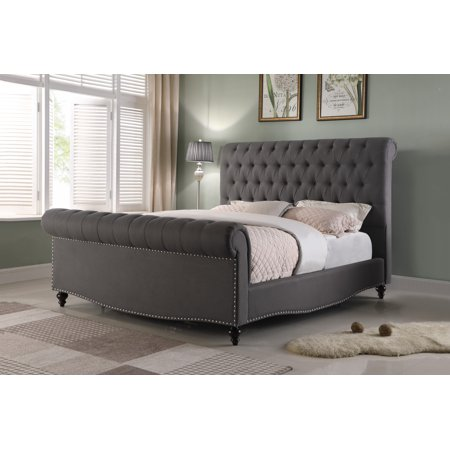 Best Quality Furniture Sleigh Upholstered Bed, Multiple Colors, Multiple Sizes ()
