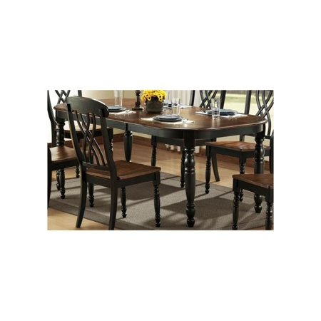 Ohana Dining Table Antique Black And Warm Cherry