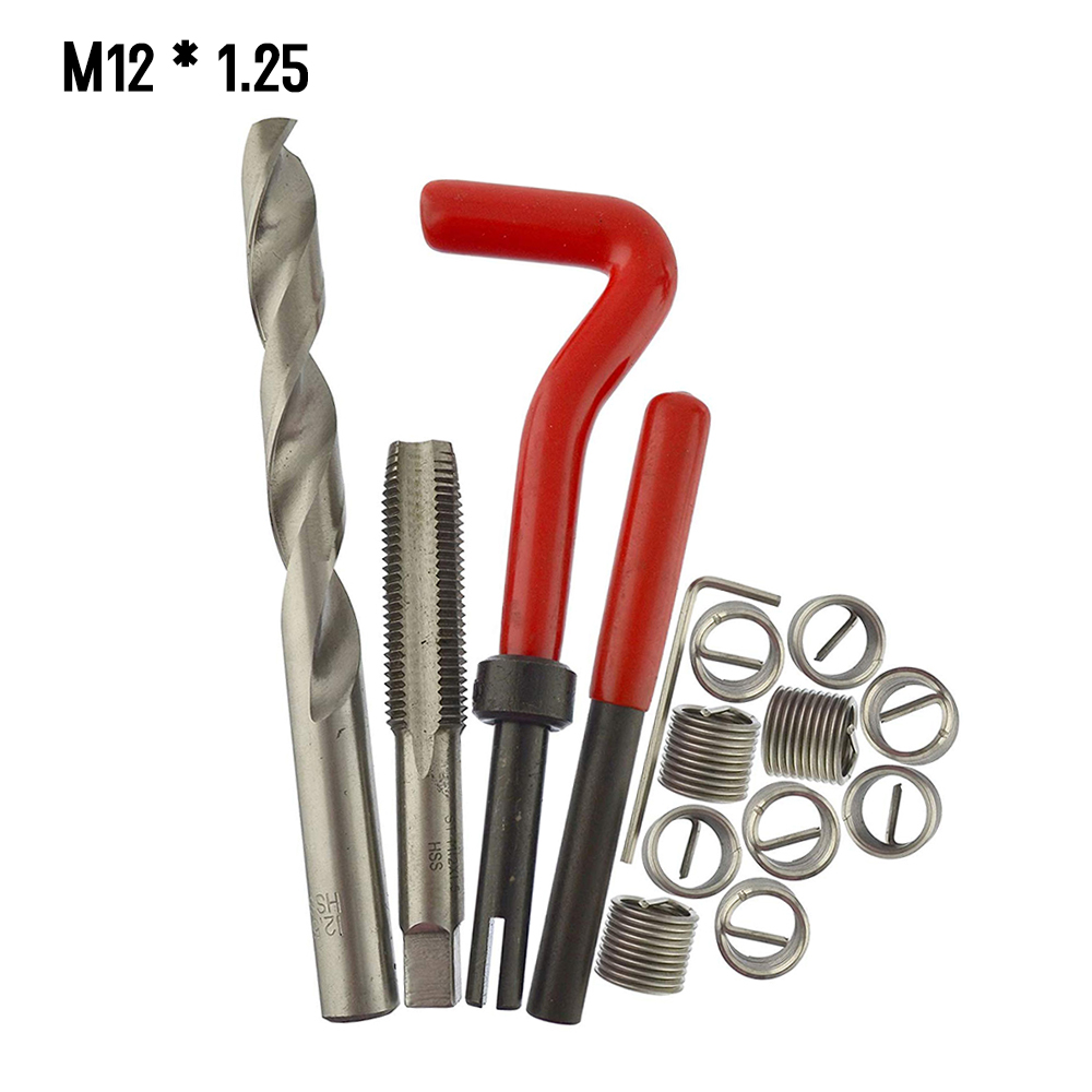 25pcs Metric Thread Repair Insert Set Kit M4 Helicoil Car Auto Coil