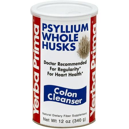 Yerba Prima Psyllium Whole Husks, Colon Cleanser 12 oz (Pack of (Yerba Prima Bentonite Detox 32 Ounce Glass Bottle)