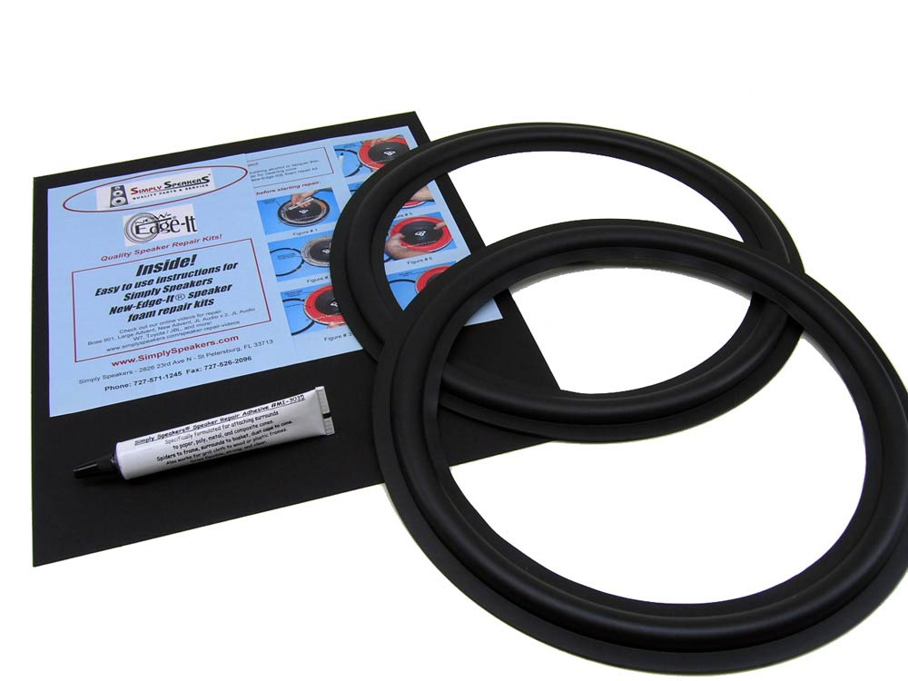 """Klipsch Speaker Rubber Edge Repair Replacement Kit, Fits 12"""" Speakers, RSK-12A by SS Audio"""