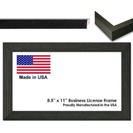 8.5 x 11 Inch Professional Business License Frame - Charcoal Grey ...