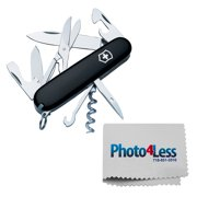 Victorinox Swiss Army Climber Pocket Knife (Black), One Size + Photo4less Cleaning Cloth