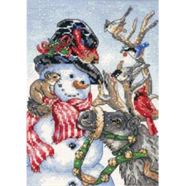 403626 Gold Collection Petite Snowman & Reindeer Counted Cross Stit-5 in. x 7 in.