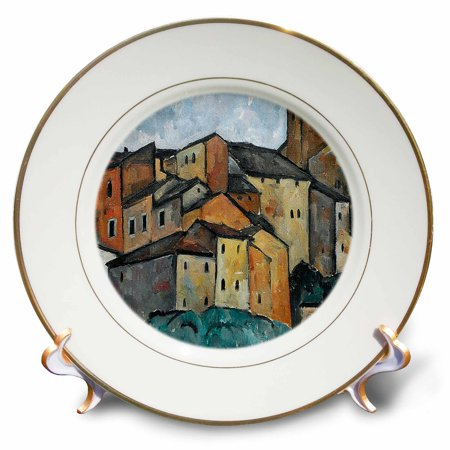 3dRose Vintage 1913 San Gimignano, Italy Painting by Alexander Kanoldt - Porcelain Plate, -