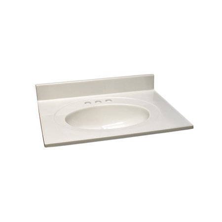 25 Cultured Marble (Design House 551150 Cultured Marble Centerset Vanity Top 25