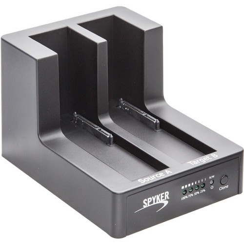 "SYBA Multimedia Drive Dock External - 2 x Total Bay - 2 x 2.5""/3.5"" Bay - USB 3.0"
