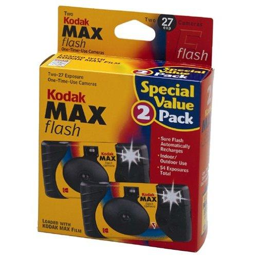 Kodak 8951428 Kod 8951428 Power Flash One Time Use Camera 2 Pack 27 Exp Kmf135