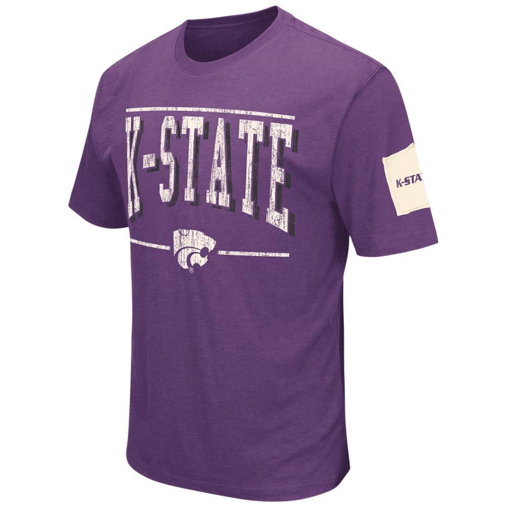 Kansas State University Men's T-Shirt Short Sleeve Distressed Tee