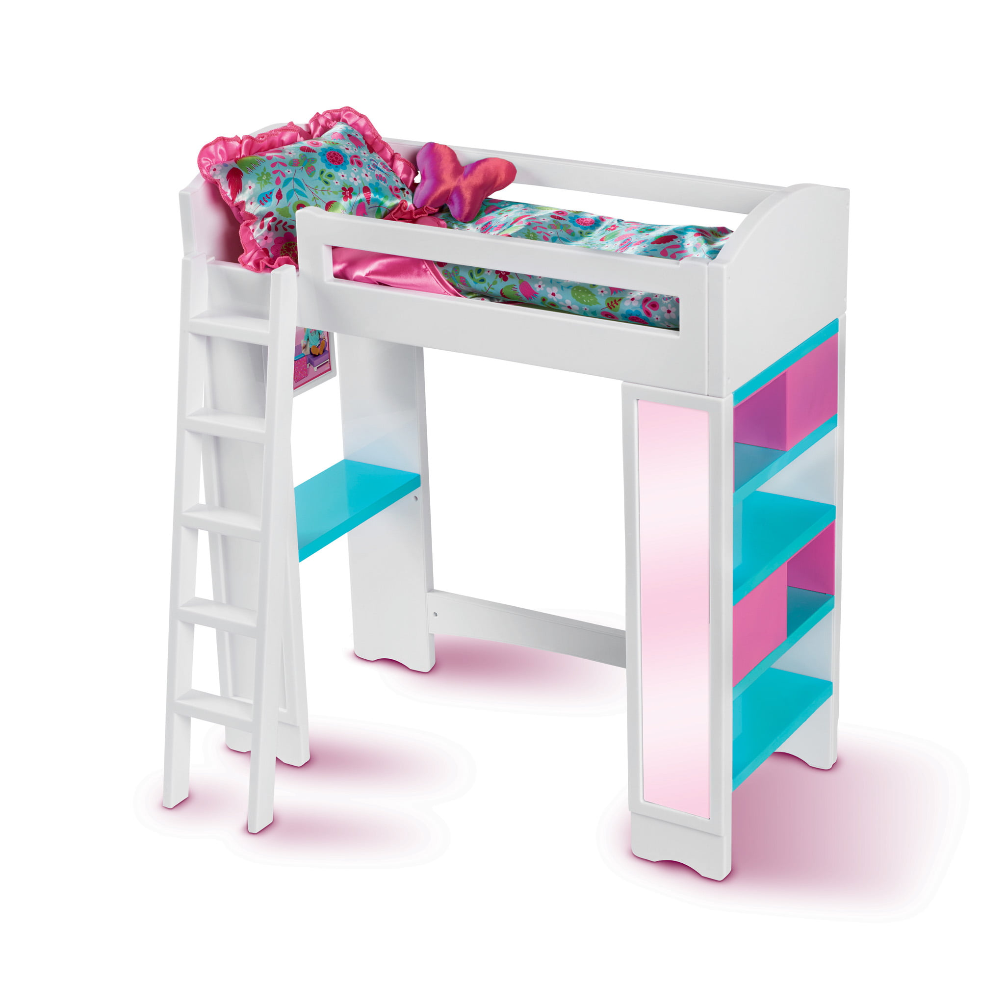 Picture of: My Life As 18 Inch Doll Loft Bed Walmart Com Walmart Com