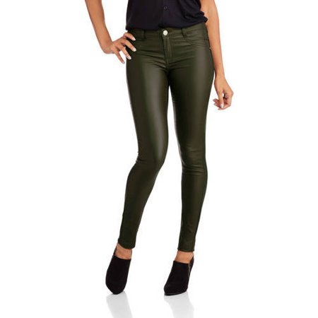 Almost Famous Juniors' Coated Skinny Jeans
