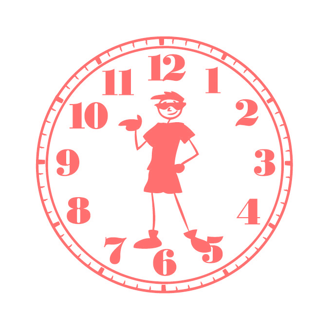 Boys Clock Face Graphic - Large