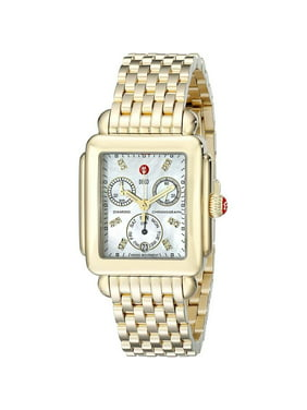 Michele Deco 016 Diamond Dial Gold Watch
