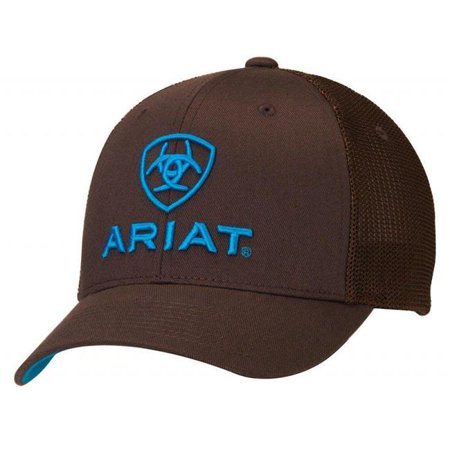 Ariat Mens Flex Fit Half Mesh Back Cap - Brown, Large - Extra Large