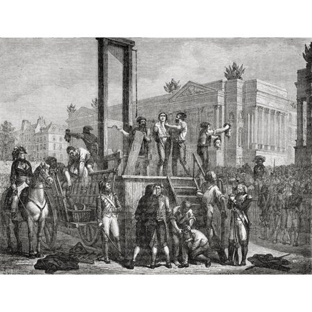 Execution Of Robespierre Saint Just And Others 28 July 1794 Maximilien Robespierre1758-1794 Jacobin Leader During French Revolution Louis Antoine Leon Saint-Just1767-1794French Politician Engraved - Halloween Saint Louis