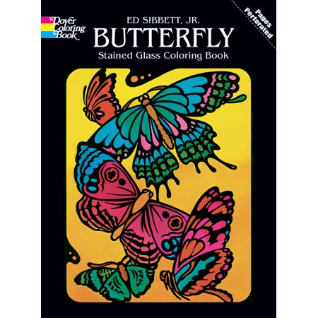 Dover Publications Stained Glass Coloring Books, Butterfly