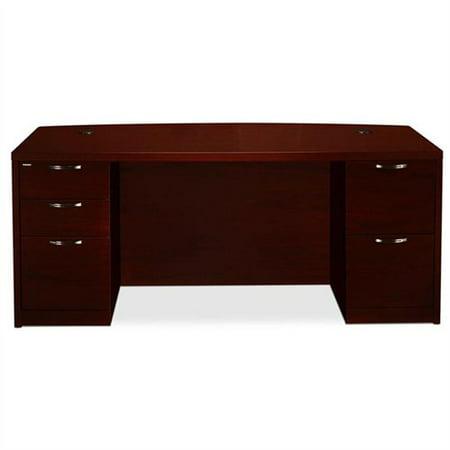 Hon Valido 11500 Series Double Bow Top Pedestal Desk - 72