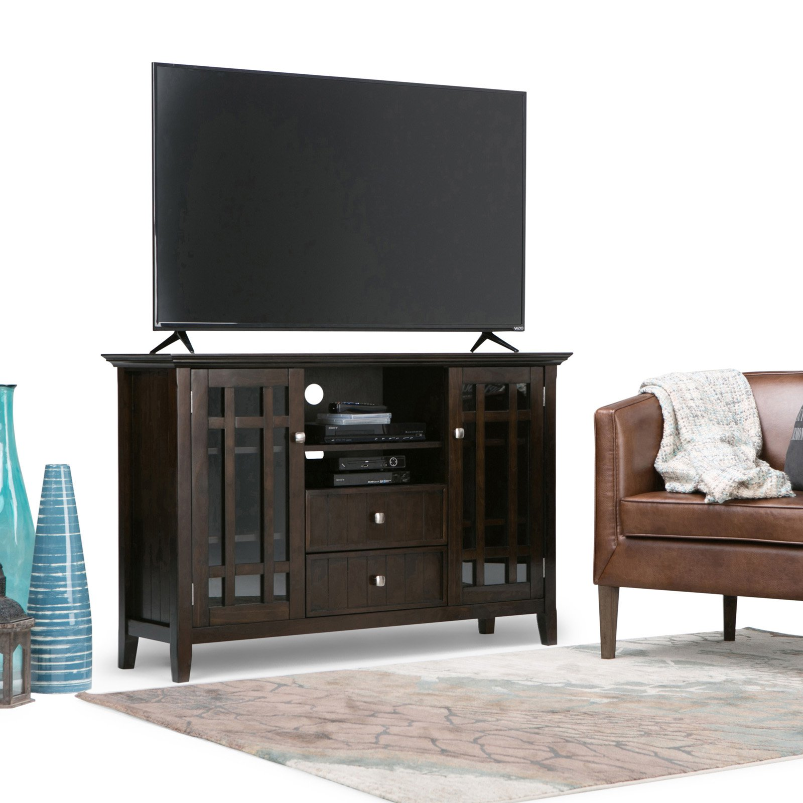 Simpli Home Bedford Tall TV Media Stand