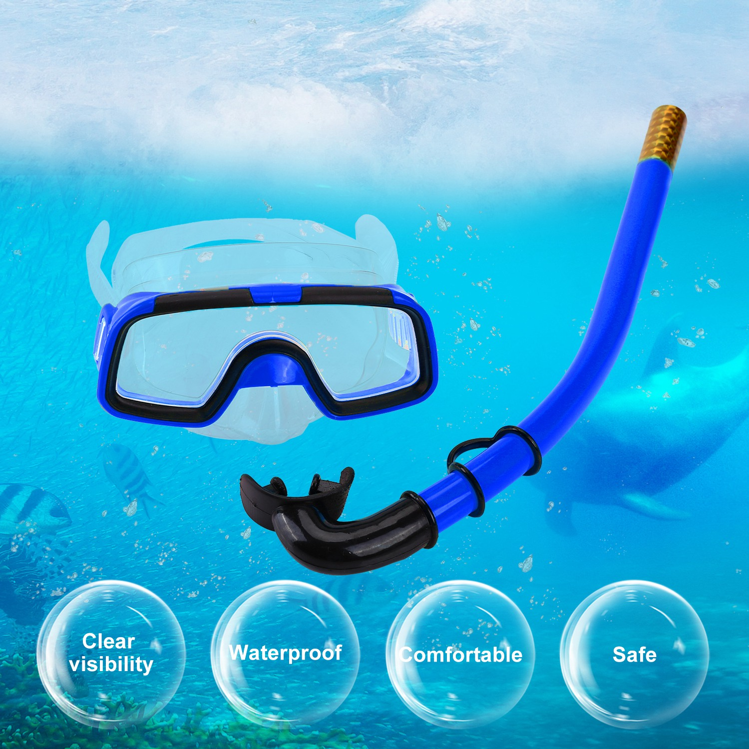 Yosoo Children Kids Swimming Diving Silicone Fins+Snorkel Scuba Eyeglasses+Mask Snorkel Orange, Kids Swimming Diving... by