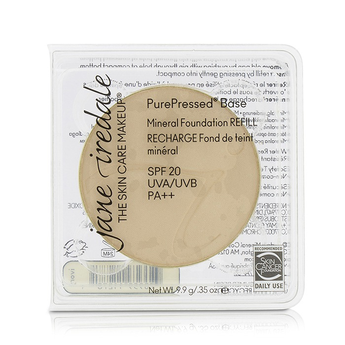 Jane Iredale - PurePressed Base Mineral Foundation Refill SPF 20 - Ivory 12821 -9.9g/0.35oz